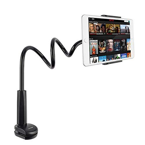 Tryone Schwanenhals Tablet Halterung/Ständer für Ipad/Handy/Switch/Samsung Galaxy Tabs/Amazon Kindle Fire HD usw, 30 Zoll Gesamtlänge (Schwarz)