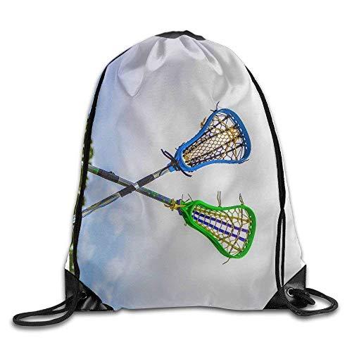 crosse Drawstring Backpack Bag Shoulder Bags Gym Bag for Adult ()