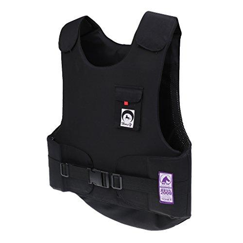MagiDeal Erwachsene Sicherheitsweste - Körperschutzweste Reitweste, Komfort und Elegant Schwarz - - Protector Body Pferd