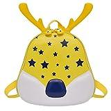 LIGEsayTOY UmhäNgetasche Damen Handtasche Damen Rucksack Damen Tasche Kind Scherzt Jungen-MäDchen-Karikatur-Weihnachtskitz-Geweih-Rucksack-Schultasche