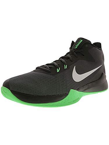 Nike Zoom Test Herren Basketballschuhe, Schwarz - Schwarz, Silber, (Anthrazit/Metallisch Silber/Schwarz) - Größe: 11.5 D(M) US