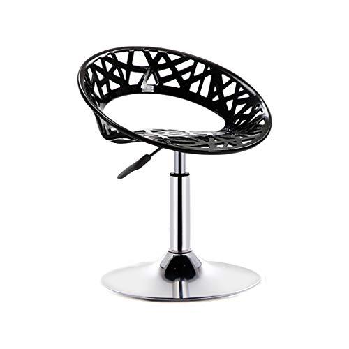 GXDHOME Hohe Barhocker, höhenverstellbare 360-Grad-Schwenker Bequeme solide haltbare ABS Chrom Edelstahl Esszimmer Wohnzimmer (Farbe : A)