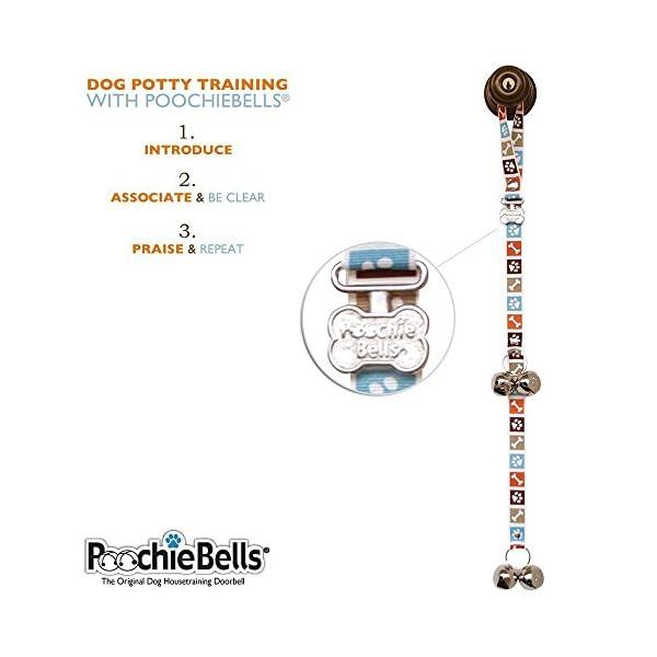 PoochieBells Dog Doorbells, Bone Appetite Brown_desther 4