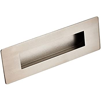 flush door pulls. large eurospec rectangular flush recessed sliding door pull handle 180 x 60mm (satin stainless steel) pulls