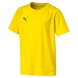 Puma Liga Children Core Jersey Shirt Jersey, Children's, 703542_07, Cyber Yellow Black, 128