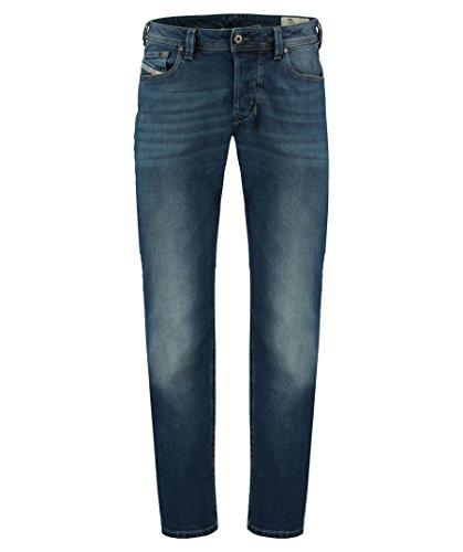 Diesel Herren Tapered Fit Jeans Blue