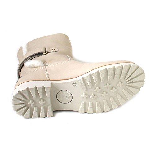 Panama Jack Damen Stiefel Elfenbein (napa crudo/raw)
