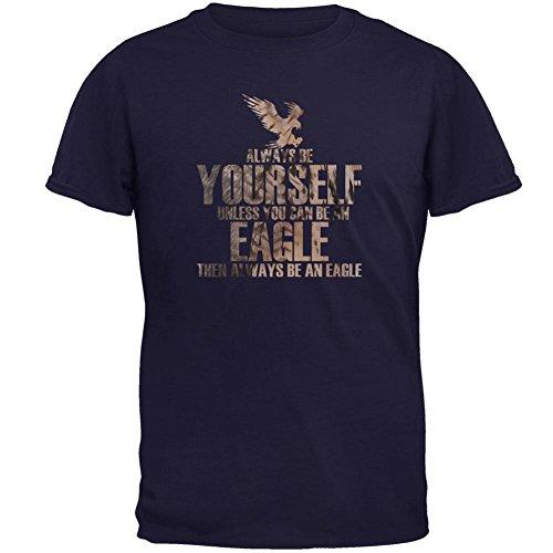 Old Glory Seien Sie Immer Selbst Adlerfedern Herren T-Shirt Navy LG