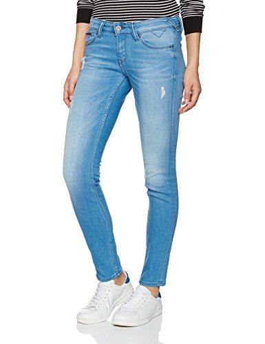 Hilfiger Denim Low Rise Skinny Sophie Scstd, Jeans Femme Bleu (Santa Cruz Stretch Destructed)