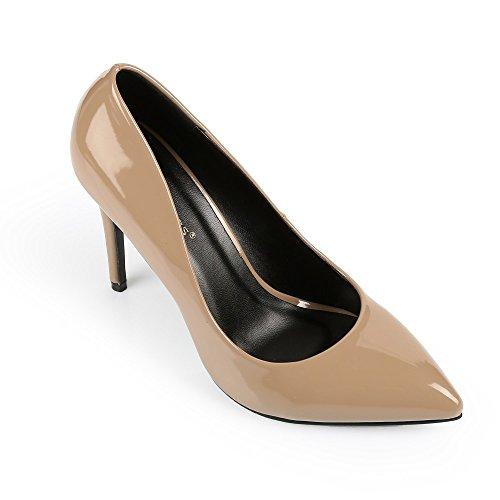 Ideal Shoes - Escarpins classiques Ashley Taupe