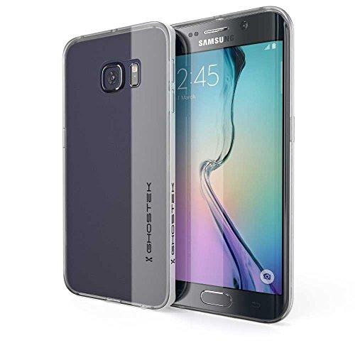 Ghostek® Handyhülle Samsung Galaxy S6 Edge - Cloak silber Faceplate [HD Clear TPU Alurahmen] Case Tasche Harcover für Smartphone Bumper Schutz Etui Schale silber