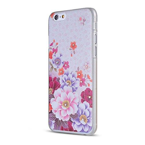 UKDANDANWEI Apple iPhone 6 Plus Hülle Case - Bling Strass Ultra Dünn Hart PC Hülle Glitzer Rückseite Slim Etui Schale für Apple iPhone 6 Plus -27 Bling-18