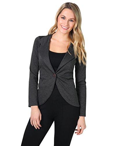 3558-CHA-12: KRISP Damen Fashion Blazer (Anthrazit, Gr.40)