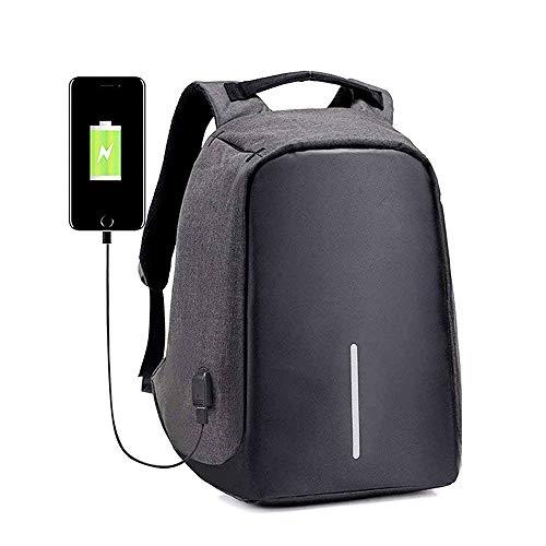 """Laptop Rucksack Notebook Tasche für Lenovo Yoga 530-14IKB 81EK00UQGE 14"""" Schulrucksack mit USB-Ladeanschluss 20-39 L - LB9 Grau"""