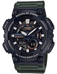 Casio Reloj Analogico-Digital para Hombre de Cuarzo con Correa en Resina AEQ-110W