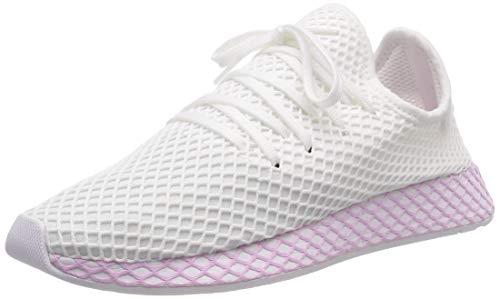 adidas Damen Deerupt W Fitnessschuhe, Weiß Ftwbla/Lilcla 000, 39 1/3 EU (Adidas-womens Lila Schuhe)