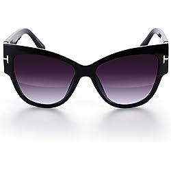 Menton Ezil Damen Sonnenbrille, schwarz, MESB23BG1