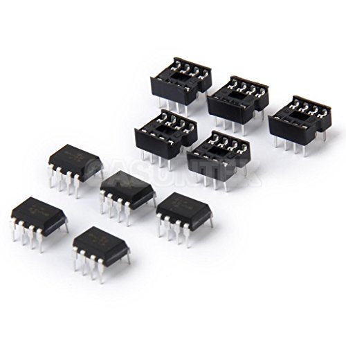 ELECTROPRIME® 5 Pairs 6N137 DIP8 High Speed Isolated Photocoupler Optocoupler + Chip Sockets