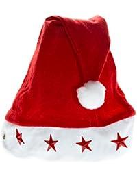 Weihnachtsmütze Nikolaus Mütze Weihnachtsmützen Xmas Mützen (4 Leuchtende Sterne Kinder WM0201009)