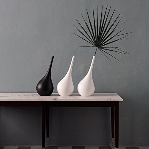 Vaso a forma di ampolla dal design moderno complemento d'arredo per la casa (nero)