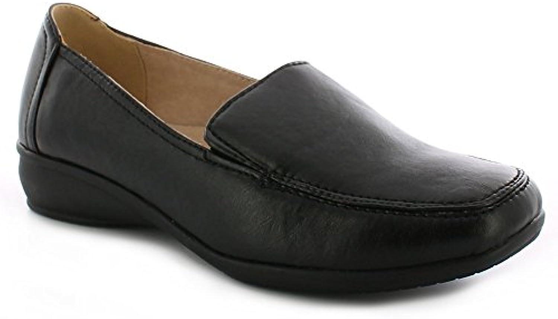Dr Keller Sally Zapatos Con Cuña Sin Cordones Informal Mujer - Negro, Piel y sintético, 37