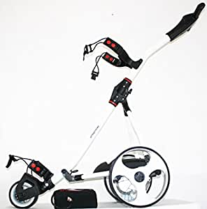 'offmetrolley'® Z1L Lithium Electric Golf Trolley - WHITE