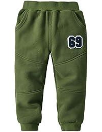 d98dc05c92 G-Kids Baby Kinder Hose Winterhose Fleecehose Jungen Warme Gefütterte  Elastische Taille Sweaterhose Sporthose