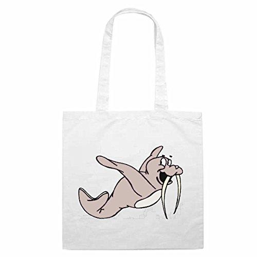 Tasche Umhängetasche Motiv Nr. 12981 Walross beim Tauchen Cartoon Spass Fun Kult Film Serie Cartoon Spass Fun Kult Film (Tauchen-serie)