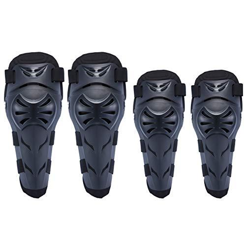 SunTime ginocchiere + gomitiere per Moto Protezioni per lo Sport all'aria Aperta Proteggi il Giunto, Regola la Tenuta Adatto per Moto, Mountain Bike, Corse ATV?ginocchiere + gomitiere?