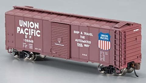Bachmann Industries Inc. AAR 40' Steel Box Car UP - Automated Railway - N Scale, Brown by Bachmann Industries (English Manual)