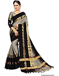 Shree Radhe Women's Cotton Silk Saree With Blouse Piece.