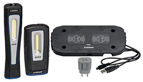 Berner Pocket DeLux und X-Lux Wireless LED Werkstattlampen inklusive Induktionsladepad Duo. Extrem starke Leuchtkraft!