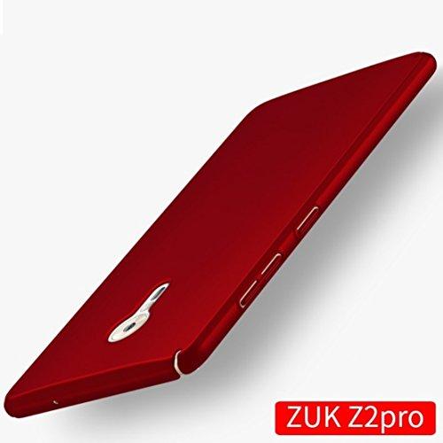 Apanphy ZUK Z2 Pro Hülle , Hohe Qualität Ultra Slim Harte Seidig Und Shell Volle Schutz Hinten Haut Fühlen Schutzhülle für ZUK Z2 Pro, Rot
