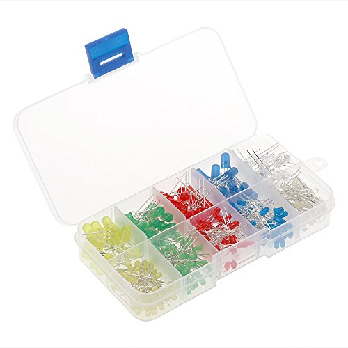 KKmoon 300pcs 3mm 5mm Set Farbe Sortiert 2-poligen Diffuse LED Leuchtdioden mit 5 Farben Elektronikkomponenten