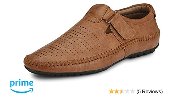 9a94f617c750a EL PASO Men s Faux Leather Exquisite Tan Designer Sandals  Buy Online at  Low Prices in India - Amazon.in