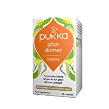 Pukka After Dinner Organic Herbal Supplement   Fennel Seed, Triphala, Ginger & Aniseed   Potent formula for after Dinner Comfort   Non-GM   Suitable for Vegans   60 capsules