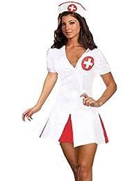 Forever Young Ladies Sexy Nurse Uniform Halloween Fancy Dress Costume