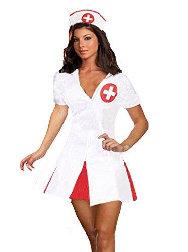 Für Immer Junge Damen Mädchen Sexy Krankenschwester Kostüm Uniform Halloween Kostüm Größe 36