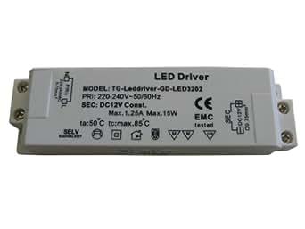 elektronischer mini led trafo transformator 12v 15w va beleuchtung. Black Bedroom Furniture Sets. Home Design Ideas