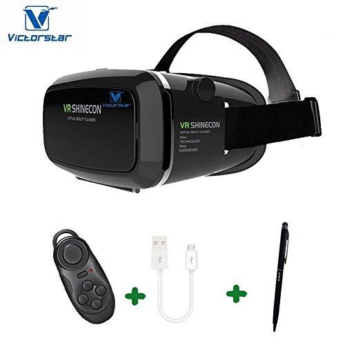 VICTORSTAR@ Occhiali 3D di Realtà Virtuale VR Box Visore Auricolare Video Gioco per Film 3D Compatible con iPhone 7s/7 Plus /6s/6 Plus/6/5S/5C/5 Samsung Galaxy S5/S6/Note4/Note5 & Otros 4.0 -6.0...