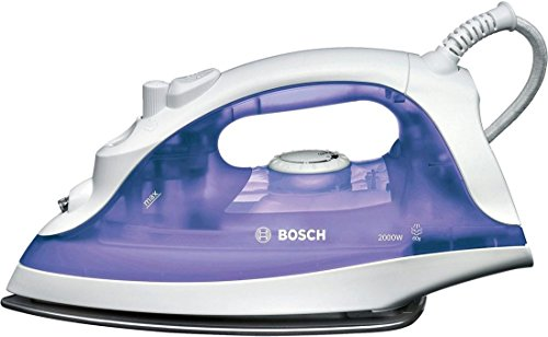 Bosch TDA2320 Ferro Vapore 2000 W, 220 ml Inox Bianco/Viola