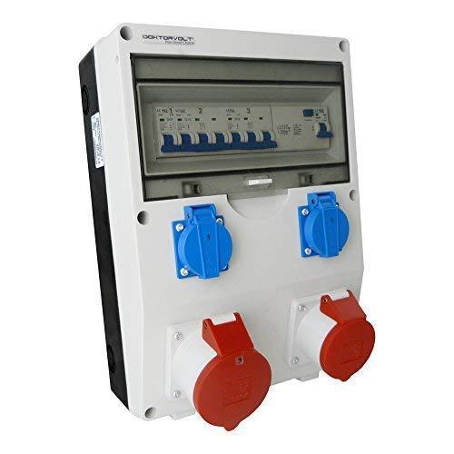 Preisvergleich Produktbild Stromverteiler ECO-S/FI 1x16A 1x32A 2x230 Baustromverteiler Wandverteiler 2633