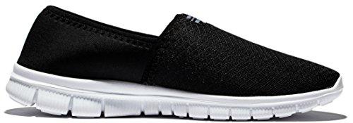 Lite Racer Le glissement de Anlarach Men Sur Souliers simple marche Flexible New Light Weight Go Facile Chaussures Noir