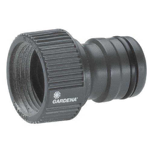 Gardena 280120 Nez de robinet d'arrosage à visser grand débit 3/4″, Noir