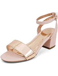 tresmode Women Evening Sandals with Block Heels