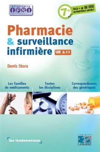 Pharmacie et surveillance infirmière: UE 2.11.