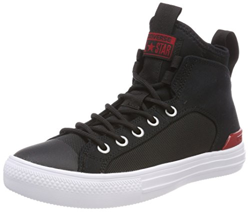 Converse Unisex-Erwachsene CTAS Ultra MID Black/Gym RED/White Hohe Sneaker Schwarz, 41 EU - Ultra Mid Boot
