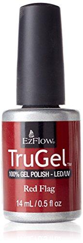 Ezflow Trugel Gel Polish LED/UV Red Flag - 14 ml
