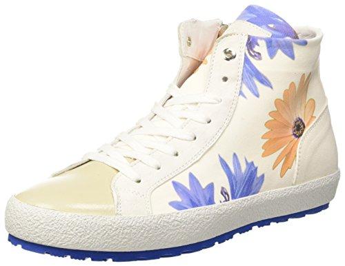 D'Acquasparta Tessa, baskets montantes femme Avorio (Flower Of White)