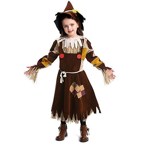 Kostüm Scarecrow Jungen - hhalibaba Kind Kinder Zauberer von Oz Tin Man Dorothy Vogelscheuche Hexe Lion Cosplay Kostüme für Mädchen Jungen Teen Girl Boy Halloween